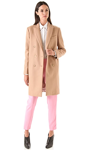 No. 21 Camel Coat with White Collar