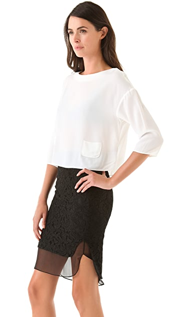 No. 21 3/4 Sleeve Top