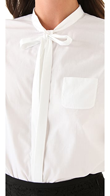No. 21 Blouse with Neck Tie