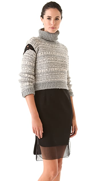No. 21 Cropped Turtleneck Sweater