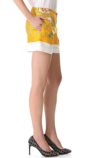 No. 21 Floral Silk Shorts