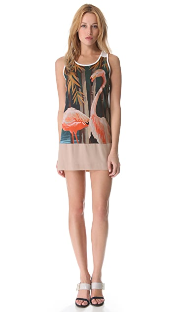 No. 21 Flamingo Tank Dress