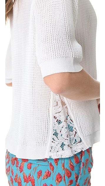 No. 21 White Mash Pullover