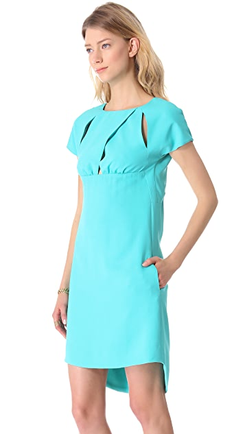 No. 21 Short Sleeve Dress with Cutouts