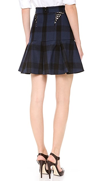 No. 21 Check Short Flounce Skirt