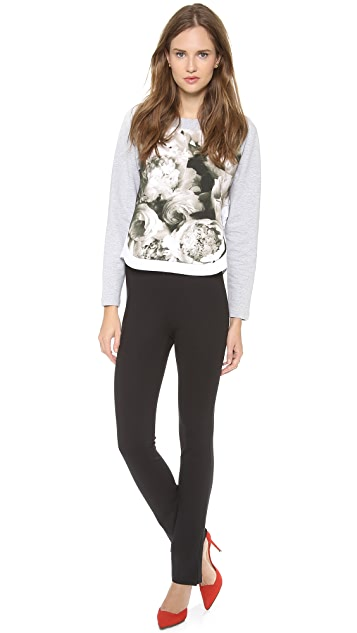 No. 21 Sweatshirt with Flowers & Lace