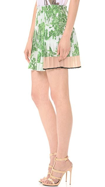 No. 21 Toile Pleated Skirt