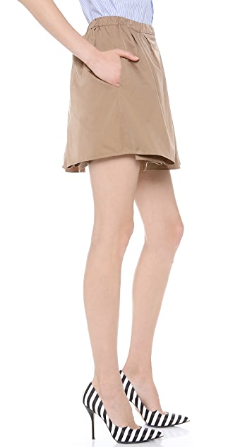 No. 21 Camel Full Skirt