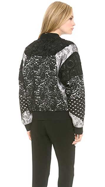 No. 21 Lace Bomber Jacket