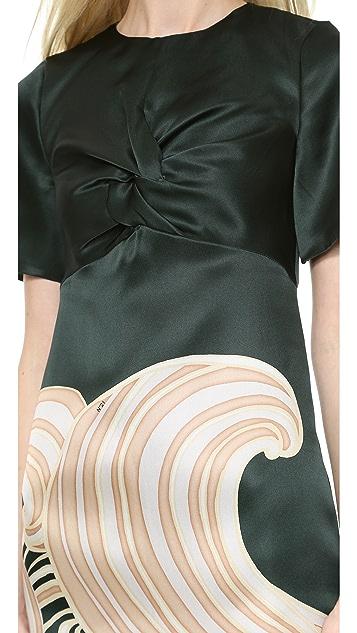 No. 21 Printed Green Dress