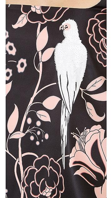 No. 21 Sequined Bird Print Top