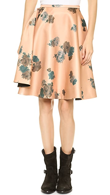 No. 21 Pleated Floral Skirt