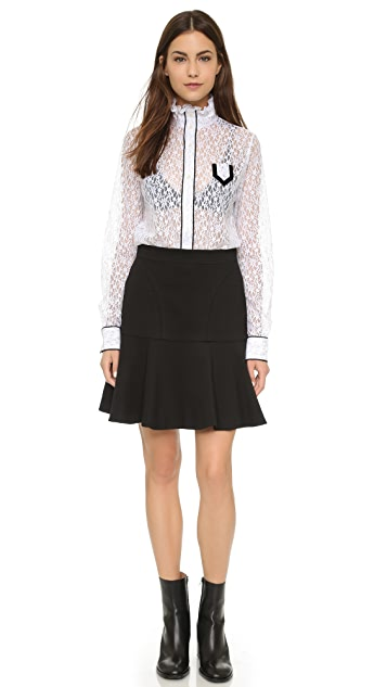 No. 21 Lace High Collar Blouse