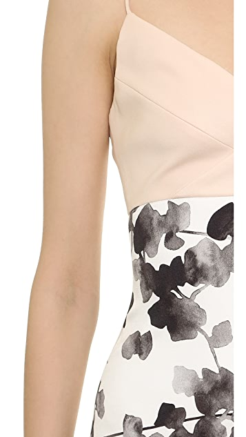 Narciso Rodriguez Watercolor Floral Silk Gown