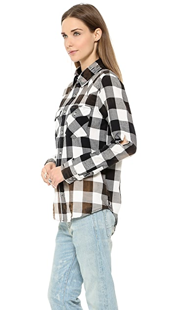 NSF Lesli Buffalo Destroy Flannel Shirt