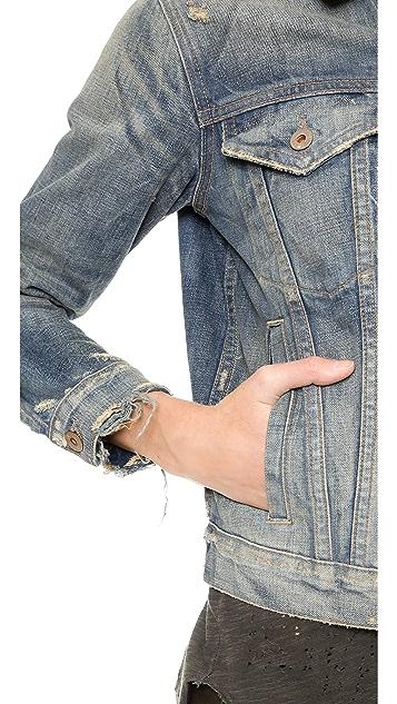 NSF Adam Distressed Denim Jacket