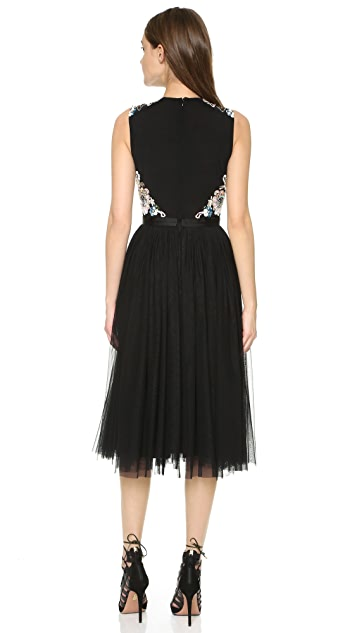 Needle & Thread Oriental Garden Midi Dress
