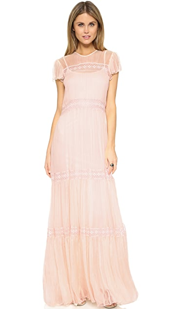 Needle & Thread Chiffon Lace Gown