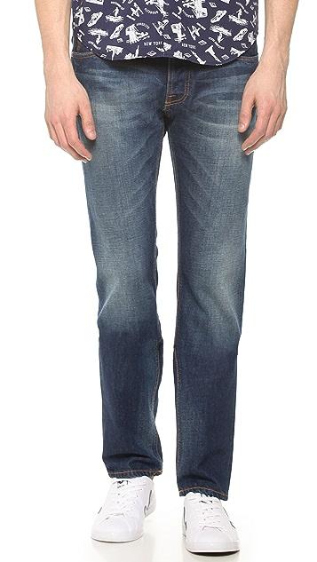 Nudie Jeans Co. Steady Eddie Whistle Blue Jeans