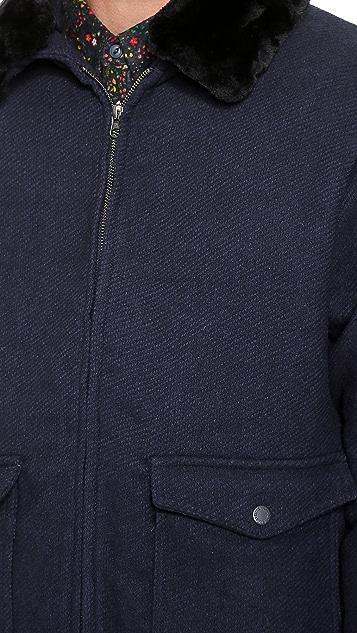 Native Youth Sherpa Collar Flight Jacket