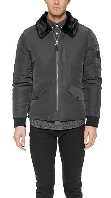 Native Youth Sherpa Collar Gulf Jacket