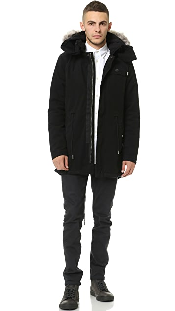 Native Youth Enzyme Washed Sherpa Lined Parka