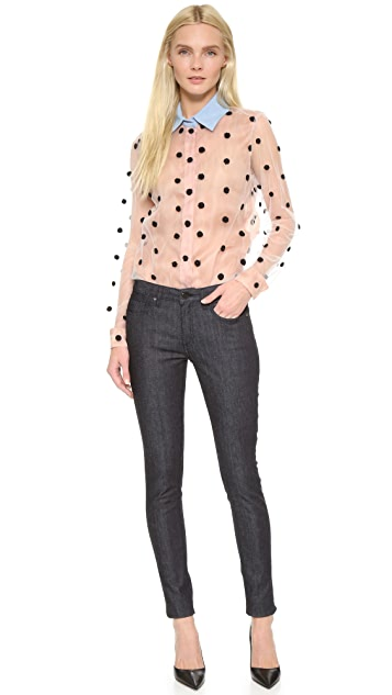 Natasha Zinko Рубашка с вышивкой в горошек