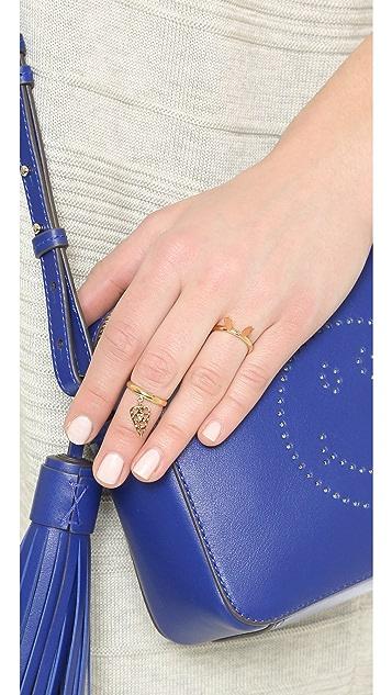Natasha Zinko 18k Gold Ring with Diamond Heart