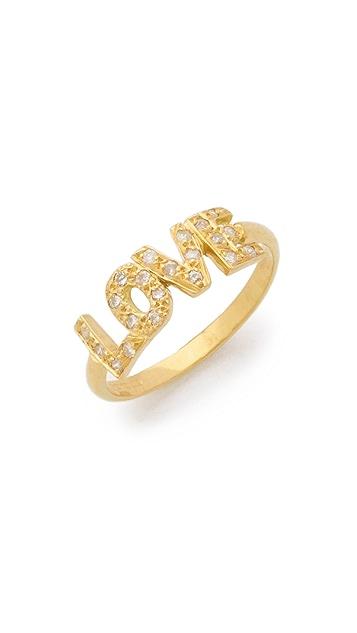 Natasha Zinko 18k Gold Love Diamond Ring