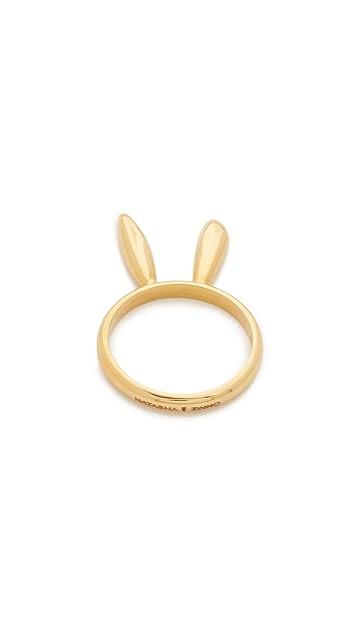 Natasha Zinko 18k Gold Ring Bunny Ears