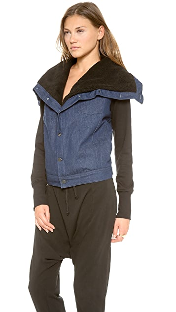 Oak Sherpa Square Collar Jacket