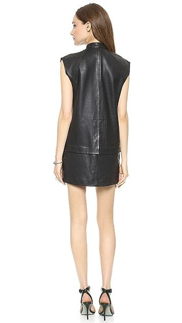 Oak Leather Double Hem Dress