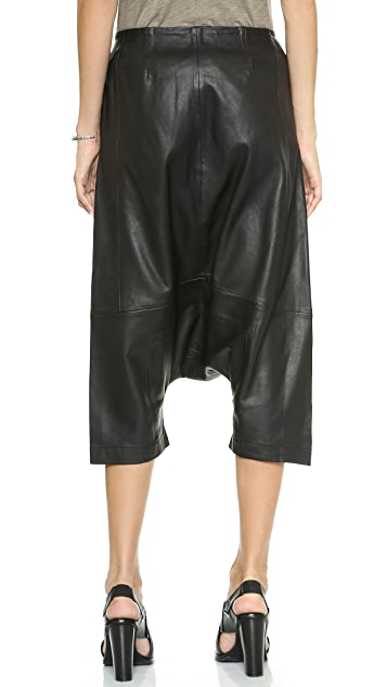 Oak Leather Square Gusset Shorts
