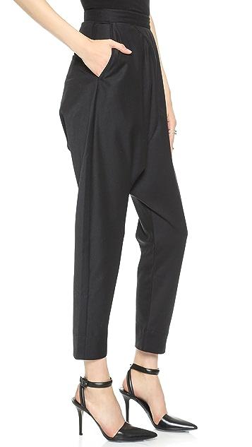 Oak Side Zip Harem Pants