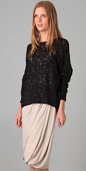 Obakki Anna Lace Wool Sweater