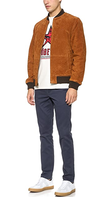 Obey Downtown Suede Jacket