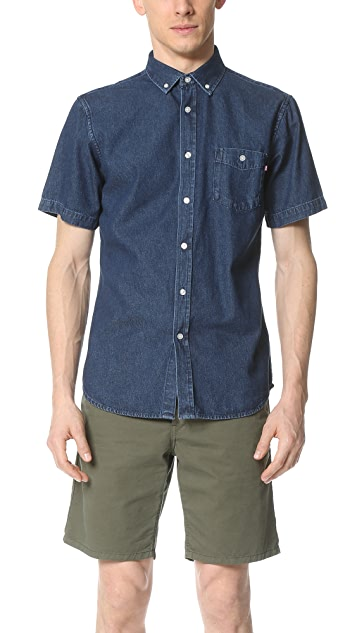 Obey Keble Short Sleeve Shirt