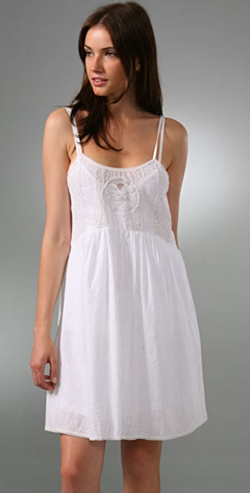 Of Two Minds Mixed Lace Tank Dress