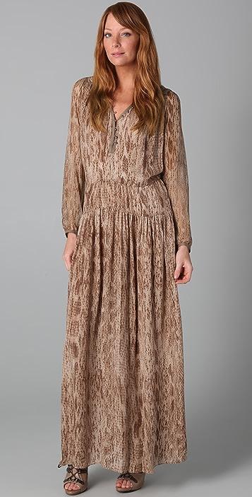 Of Two Minds Daria Long Snake Print Dress
