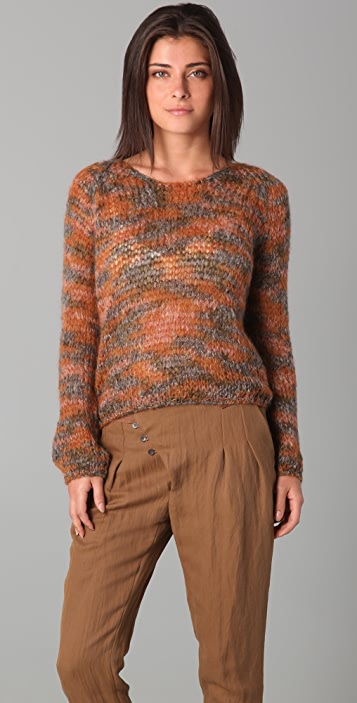 Of Two Minds Kay Crew Neck Mohair Sweater