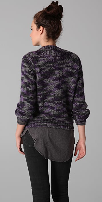 Of Two Minds Koty Mohair Cardigan Sweater