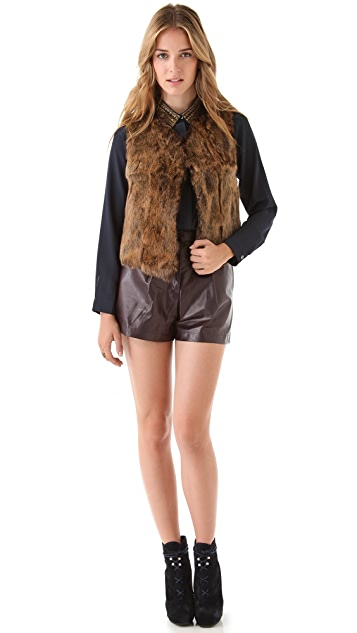 Of Two Minds Abbie Rabbit Shearling Vest