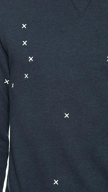 Officine Generale Cross Embroidery Sweatshirt