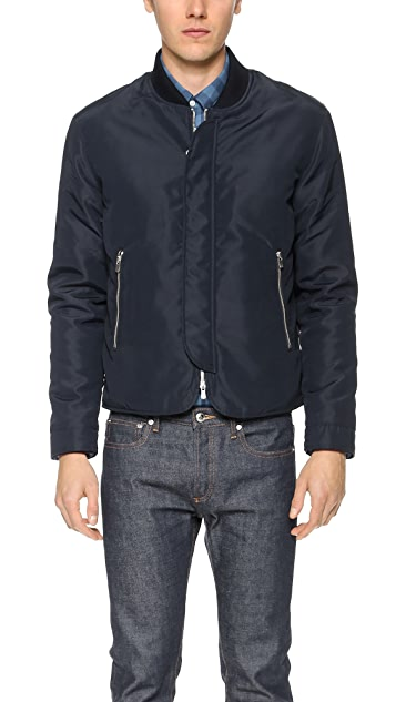 Officine Generale Nylon Bomber Jacket