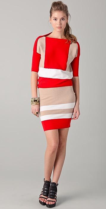 Ohne Titel Colorblock Knit Dress