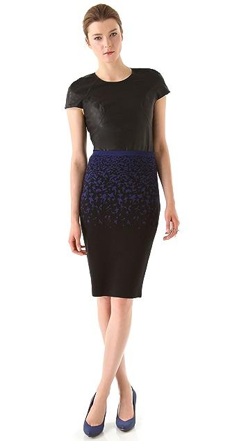 Ohne Titel Print Knit Pencil Skirt