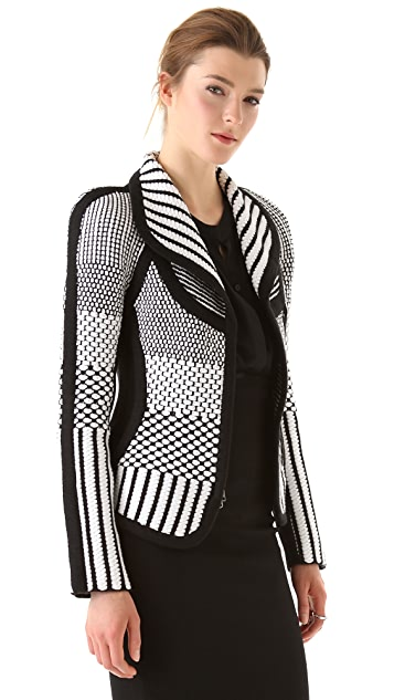 Ohne Titel Checked Weave Knit Jacket
