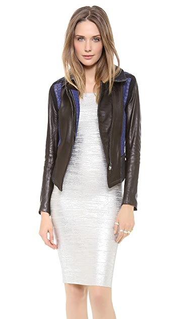 Ohne Titel Leather Knit Jacket