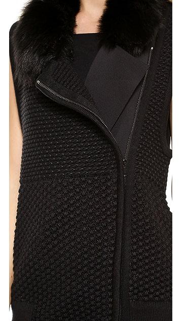 Ohne Titel Shearling Knit Vest