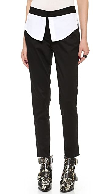 Ohne Titel Shirttail Skinny Trousers